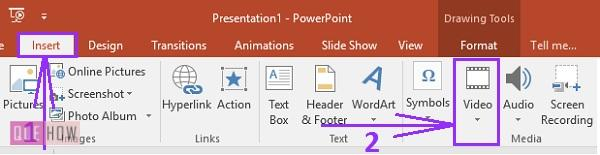 How to insert a youtube video in powerpoint 1