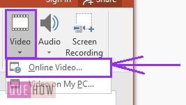 How to insert a youtube video in powerpoint 2
