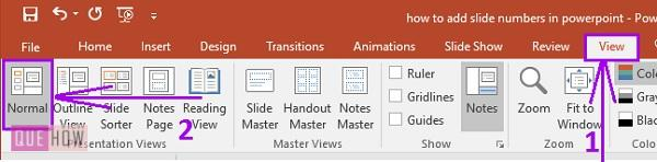 how to add slide numbers in powerpoint 1