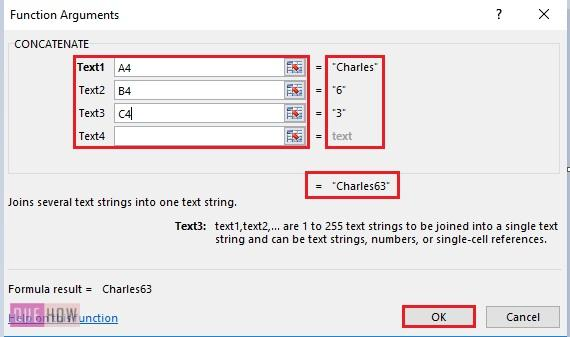 How to Concatenate in Excel 2-1