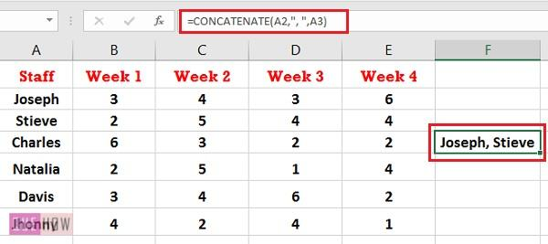 How to Concatenate in Excel 8