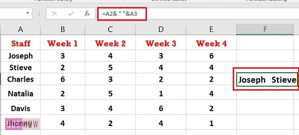 How to Concatenate in Excel 9