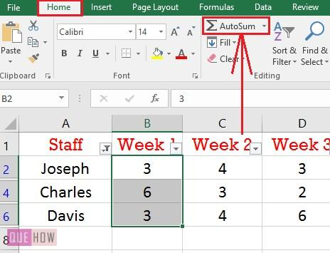 How to add in Excel-013
