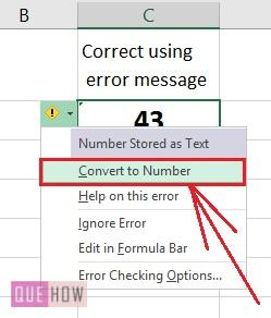 How to convert text to number in Excel -2