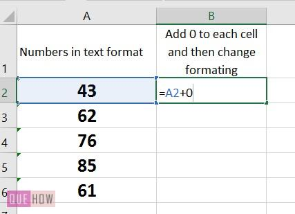 How to convert text to number in Excel -3