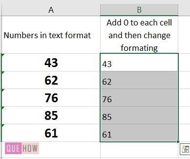 How to convert text to number in Excel -4