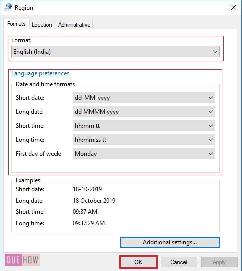 Change default Date Format 1