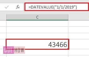 Convert date to number formula