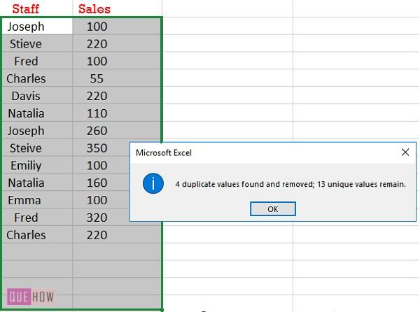 REmove duplicate rows for multiple columns