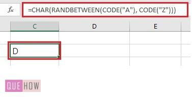 generate a random number in excel 10