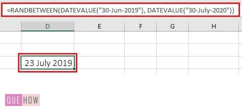 generate a random number in excel 6-1