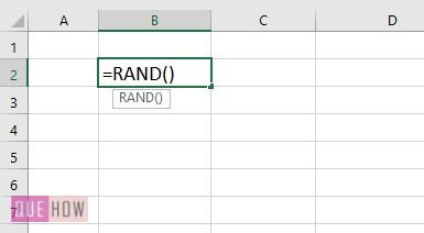 generate random number in excel 1