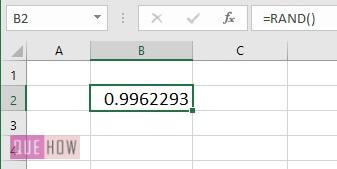 generate random number in excel 2