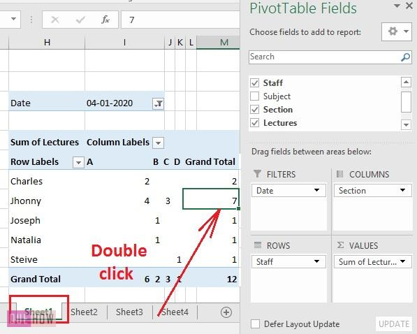 Create Pivot Table in Excel 10