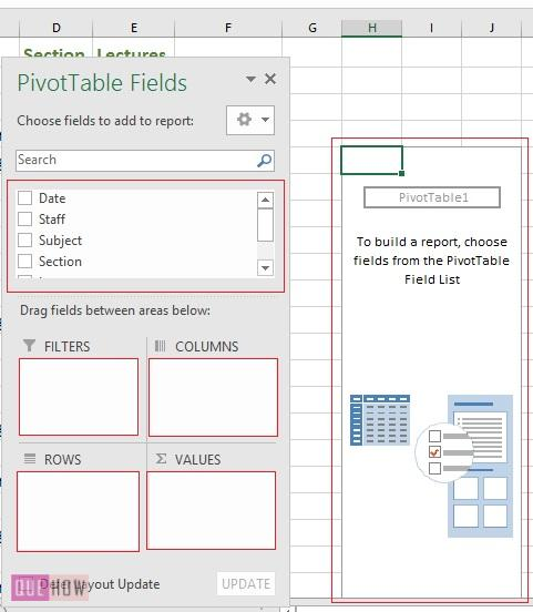 Create Pivot Table in Excel 4