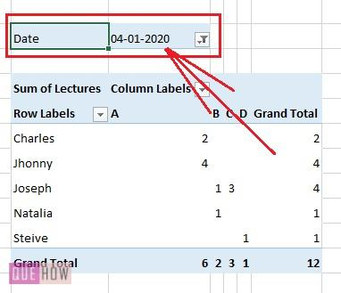 Create Pivot Table in Excel 6