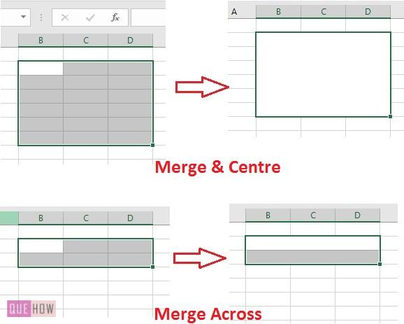 Merge Cell in Excel 16