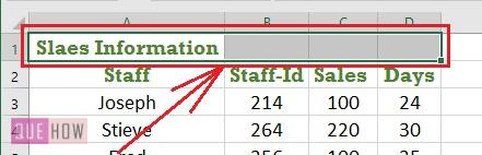 Merge Cell in Excel 2