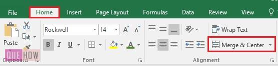 Merge Cell in Excel 3