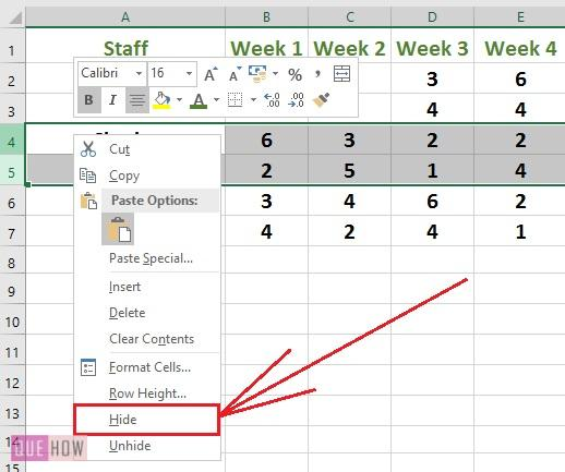 How To Hide And Unhide Rows & Columns In Excel? (with