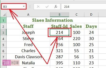 Create a named range in Excel 1