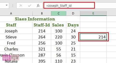 Create a named range in Excel 4
