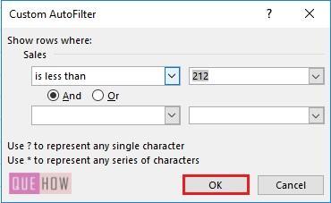 Filter in Excel - 10