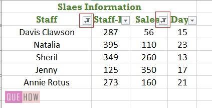Filter in Excel - 12