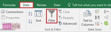 Filter in Excel - 2