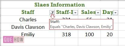 Filter in Excel - 5