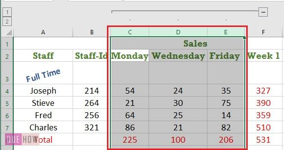 Goup in Excel - 11