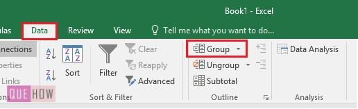 Goup in Excel - 3