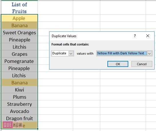 Highlight Duplicates in Excel-4
