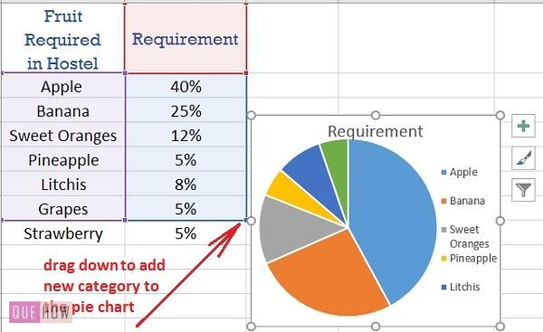 Pie Chart in Excel - 012