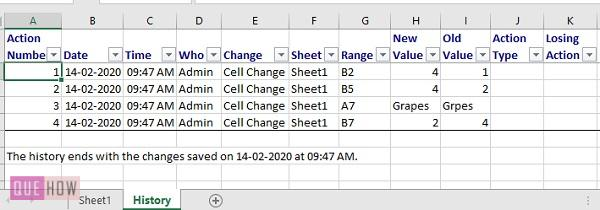 track changes in excel - 7