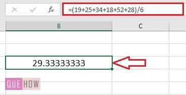 Calculate Average in Excel - 1