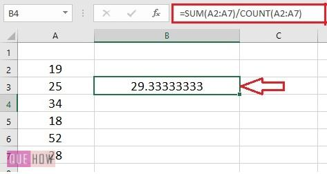 Calculate Average in Excel - 2