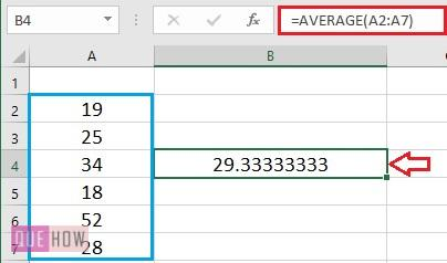 Calculate Average in Excel - 3