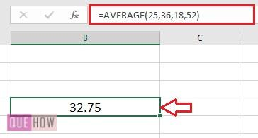 Calculate Average in Excel - 4