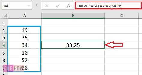 Calculate Average in Excel - 5