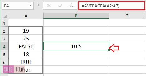 Calculate Average in Excel - 6