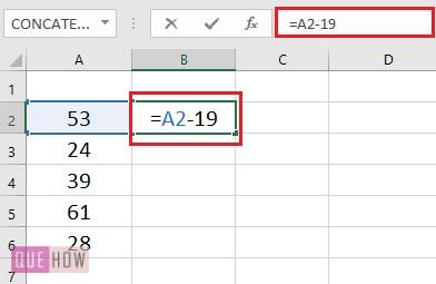 Subtract a Value from Values in range- 1