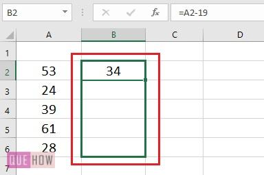 Subtract a Value from Values in range- 2