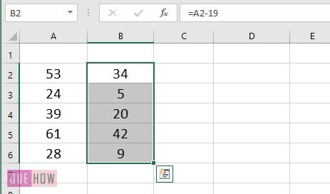 Subtract a Value from Values in range- 3