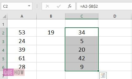 Subtract a Value from Values in range- 6