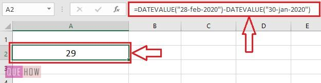 Subtract date values 5