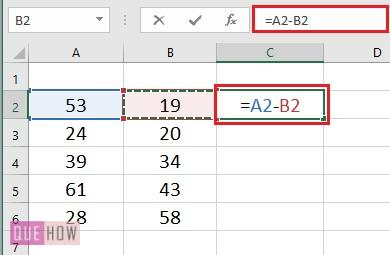 Subtract values in Columns- 1