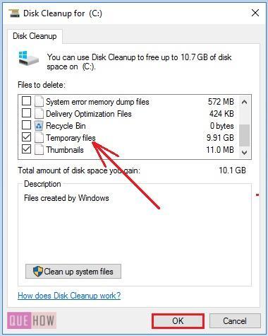clear cache in windows 10 -15