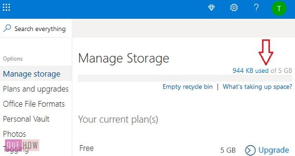 Check OneDrive Storage 5