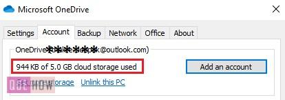 Check OneDrive Storage 8